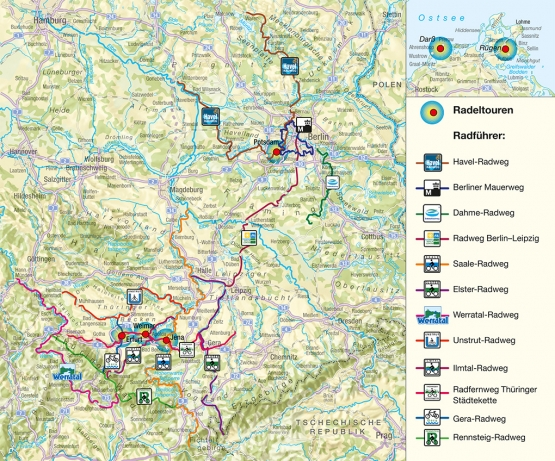 Radwanderwege/ Radfernwege