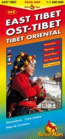 Ost-Tibet Straßenkarte