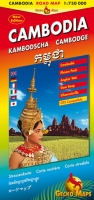 Kambodscha – Straßenkarte