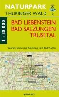 Wanderkarte Bad Liebenstein, Bad Salzungen, Trusetal