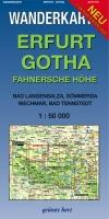 Wanderkarte Erfurt, Gotha, Fahnersche Höhe