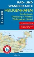 Rad- & Wanderkarte Heiligenhafen, Oldenburg i. H., Großenbrode