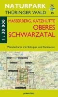 Wanderkarte Oberes Schwarzatal, Masserberg, Katzhütte