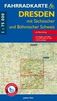 Fahrradkarte Dresden mit Sächsischer und Böhmischer Schweiz
