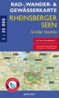 Rad-, Wander- und Gewässerkarte Rheinsberger Seen, Gr. Stechlin