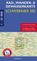 Rad-, Wander- und Gewässerkarte Schweriner See