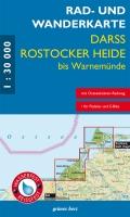 Rad- und Wanderkarte Darß, Rostocker Heide bis Warnemünde