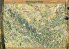 Ferienkarte Thüringer Wald gerollt
