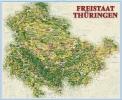 Ferienkarte Thüringen gerollt