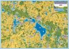 Ferienkarte Mecklenburgische Seen gerollt