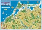 Ferienkarte Fischland, Darß, Zingst gerollt