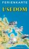Ferienkarte Usedom gefaltet