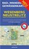 Rad-, Wander- und Gewässerkarte Wesenberg, Neustrelitz