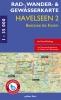 Rad-, Wander- und Gewässerkarte Havelseen 2: Beetzsee bis Ketzin